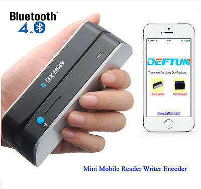 Bluetooth MSR X6BT Mini Magnetic Stripe Credit Card Reader Writer Encoder Swipe
