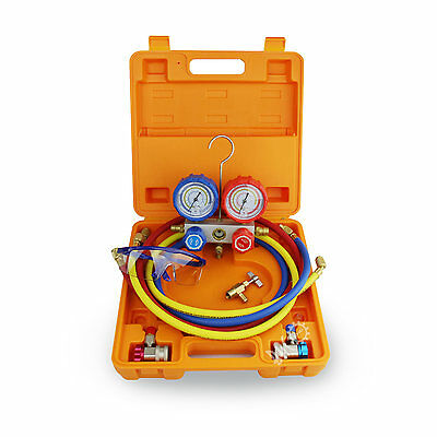 BACO HVAC A/C Manifold Guage Tool Kit Suitable for R22 R134a R410A R407C