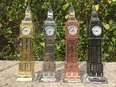 *sale * Special Offer* London Big Ben Crystal Glass Clock With Changing Lights