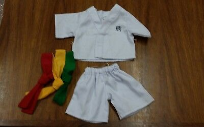 Build A Bear Branded Bears Karate Uniform With Three Belts Bear Outfit