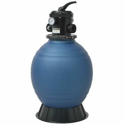 vidaXL Pool Sand Filter 18 inch/460 mm Round Blue Spa Hot Tub Cleaning Machine