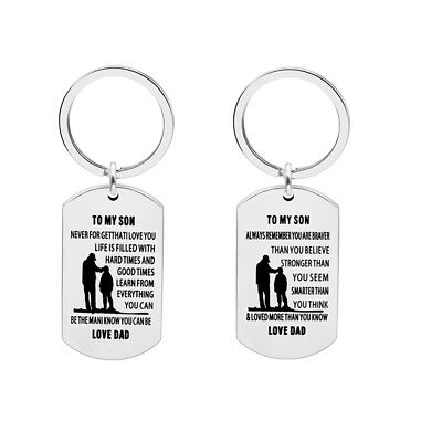 Gifts For Son Inspiration Keyrings Keychains Purse Bag Birthday Family Jewelry