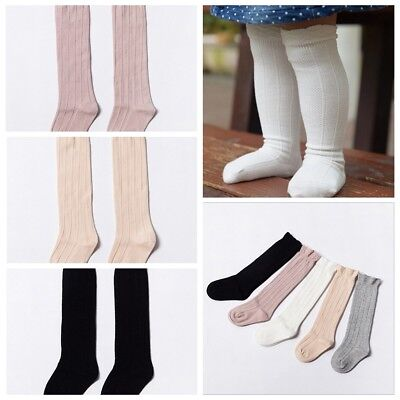 Baby Toddler Girls Cotton Knee High Socks Tights Leg Warmer Stockings For 0-3Y R