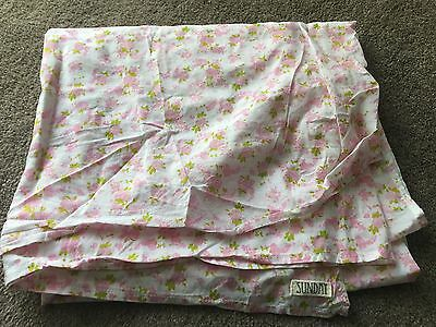 Cotton baby swaddle cloth with floral design EUC