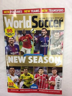 World Soccer Magazine Aug 2017 New Season Collectors Issue Guide World Cup Neyma