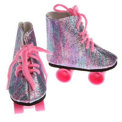 18inch Doll Clothing Accessory Plastic Roller Skates Shoes for American Girl