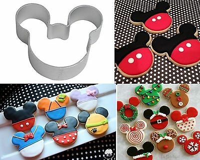 New Mickey Minnie Mouse Head Biscuit Cookie Mold Cutter Mould Metal Party Shape