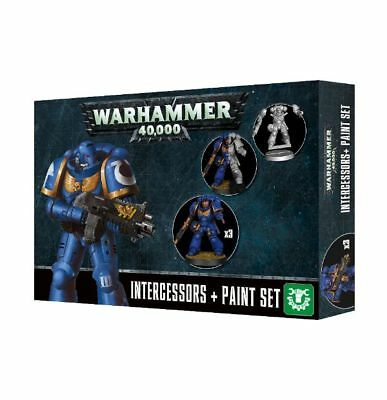 Intercessors Space Marines + Paint Set Warhammer 40K