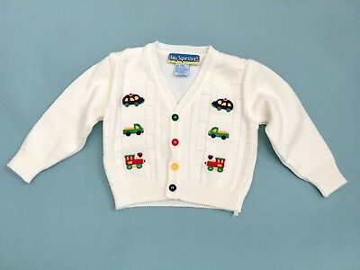 Vintage Baby Boy Cardigan / vintage sweater/ toddler boy / excellent Condition
