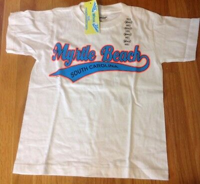 WINGS Kid's T-Shirt Size Small Myrtle Beach SC Short Sleeve White NWT