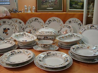 """Raynaud """"Pappilons"""" Limoges France Speiseservice 7- 8 Personen 30 Teile"""