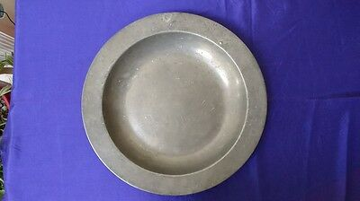 "Pewter Dish (14.5"") Thomas Letherbarrow"
