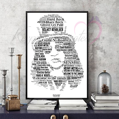 Slash Guns n' Roses Word Art Collectable/Memorabilia/Keepsake/Gift FastDispatch