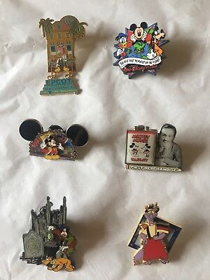 Disney Pins Lot Of 6, Including Rare Limited Editions