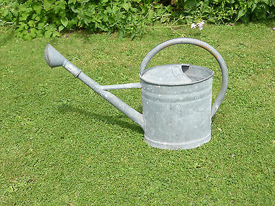 Vintage Watering Can 2 1/2 Gallon. With Rose + Hoop Handle.Watertight.