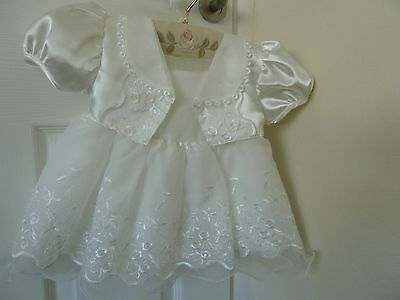 BABY GIRL  6-9 months  IVORY CHRISTENING/FORMALBOUTIQUE  DRESS