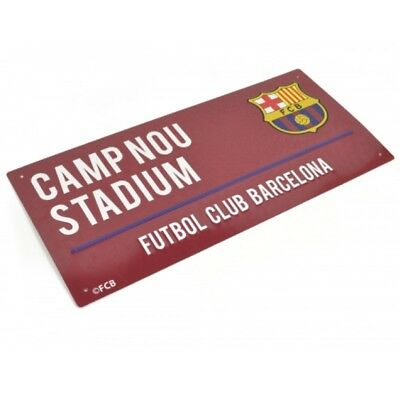 Barcelona Football Club Camp Nou Stadium Metal Street Sign Official Wall