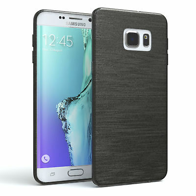 Schutz Hülle für Samsung Galaxy S6 Edge Plus Brushed Cover Handy Case Anthrazit