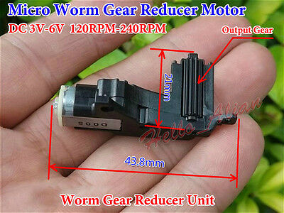 DC 3V 5V 6V 240RPM Mini Worm Gear Motor Gearbox Reduction Wheel DIY Car Robot