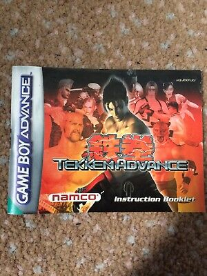 Gameboy Advance Tekken Manual