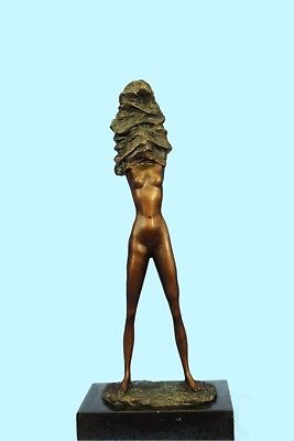 Sculpture Statue Abstract Modern Art Masterpiece Nude Naked Bronze Collectible