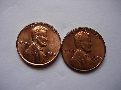 1964 P & D Lincoln Small Cent 2 Coin Set BU