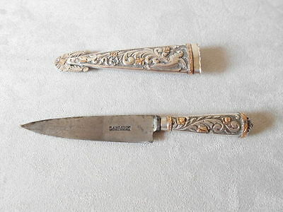 Gaucho knife /couteaux  / argent incruster d,or 18 K / Gaucho /argentine
