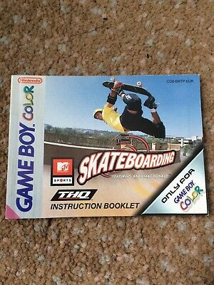 Gameboy Color Skateboarding Manual
