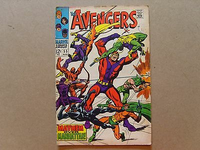 THE AVENGERS (1968) #55 - KEY ISSUE 1st APPEARANCE of ULTRON - MARVEL COMICS  pb