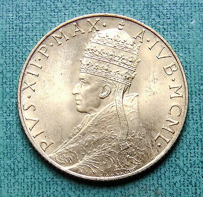 1950 Holy Year Vatican Pius XII Gold 100 Lire Coin UNC