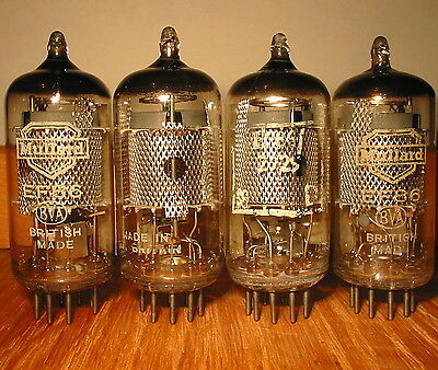 4 Matched 1961 Pre-Yellow Mullard Ef86 6267 Fully Tested 108%-110% Leak/vox Amps