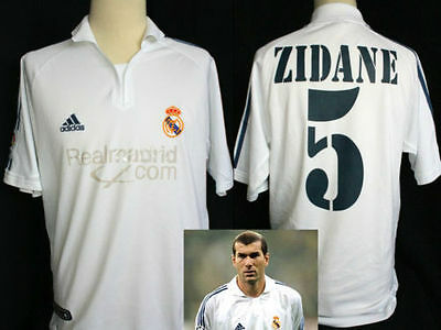 Maglia Jersey Camiseta Real Madrid No Match Worn Adidas 2001/2002 Zidane