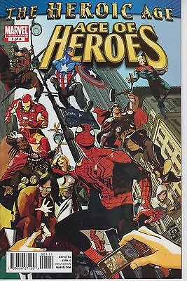 Age of Heroes 1 - 2010  - Captain Britain, Spider-Man - Near Mint