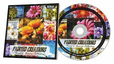 Painted Creations Floral & Scenery Stock Photo Collection $79 Retail Val