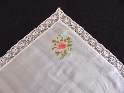 "Antique WW1 Silk & Embroidered Handkerchief Hanky - ""To My Sweetheart"""