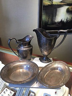 Wallace Sterling Silver Trophy Pitcher Jug Bowl Set 1924 Chicago Expo 57 ounces