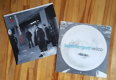 Wilco 2x Rare Promo Poster Flats 2-Sided Summerteeth Jeff Tweedy Son Volt 1999