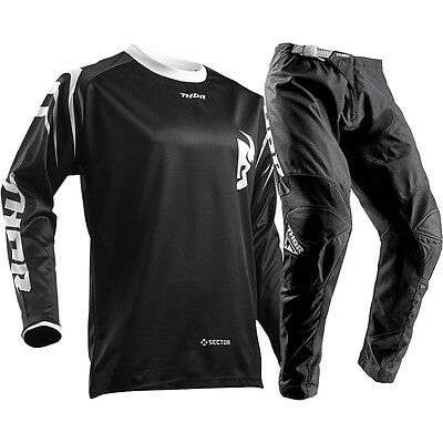 New 2018 Thor Mx Sector Zones Jersey Gear Set Combo Black + Free Name