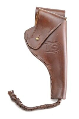 Us Ww1 M1917 1942 .45 Pistol Revolver Holster Premium Drum Dyed Leather