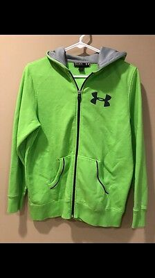 Light Green UnderArmor ZipUp Hoodie (Youth Size Large)