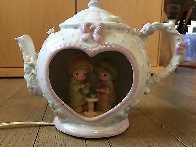 """EUC Precious Moments """" Our Friendship Hits the Spot """" Teapot Night Light WORKS"""