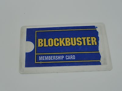 Older Vintage Blockbuster Video Membership Card Circa 1994