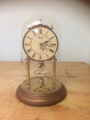 Vintage German Brass And Copper Anniversary Mantle Clock