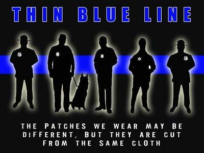 Police Poster Police Motivation Poster Thin Blue Line 18x24 (MOTIVATION31)