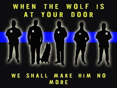 Police Poster Police Motivation Poster Thin Blue Line 18x24 (MOTIVATION33)