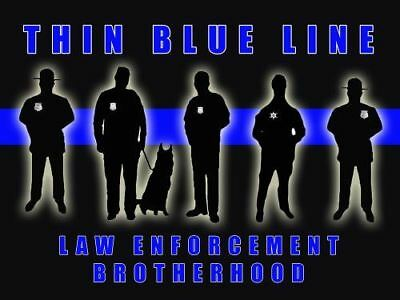 Police Poster Police Motivation Poster Thin Blue Line 18x24 (MOTIVATION27)