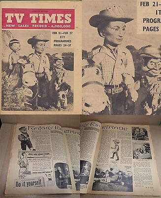 RARE Gerry Anderson 1960 TV TIMES magazine FOUR FEATHER FALLS cover  TEX TUCKER