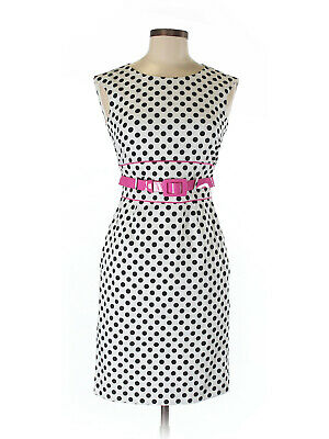 Tahari by ASL Womens Polka Dot Sheath Dress Size 2