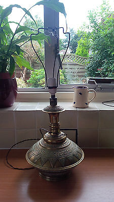 ******reduced******ANTIQUE VINTAGE LARGE BRASS LAMP BASE