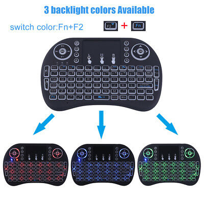 Mini I8 2.4G Wireless Touchpad Keyboard Adjustable Air Mouse With Backlight